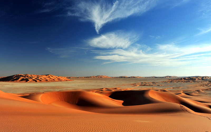 Sand dunes in Rub al Khali desert. Photo 49337096 © Cristalloid | Dreamstime.com